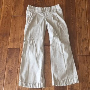 Khaki dress pants with a wide leg size 6